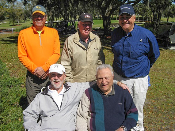 Standing L to R: John Colgren, Walt Weldon, and Syl Amos, Seated L to R Ray Curry and Vic Scodese/ Submitted 2015 by Hogans Golf Club of Sun City Center &  Kings Point