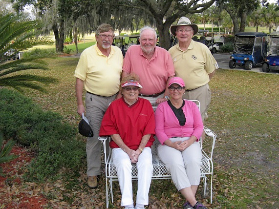 Standing L to R:  Rex Gibbons, Rich Lucidi, and Travis Lansberry, Seated L to R:  Karen Jones and Laura Parziale/2015 submitted by Hogans golf Club of Sun City Center & Kings Point