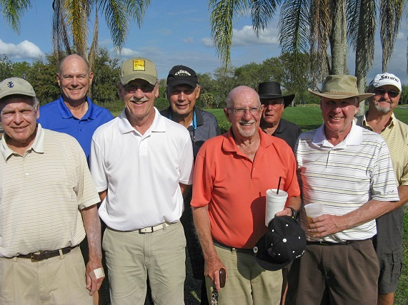 Back L to R:  Doug Banning, John Schachte, Russ Turell, and Dale Nicholson, Front L to R: Don Mowry, Dan Stephens, Doc Lamiano, and Walt Weldon/submitted by Hogans Golf Club of Sun City Center & Kings Point