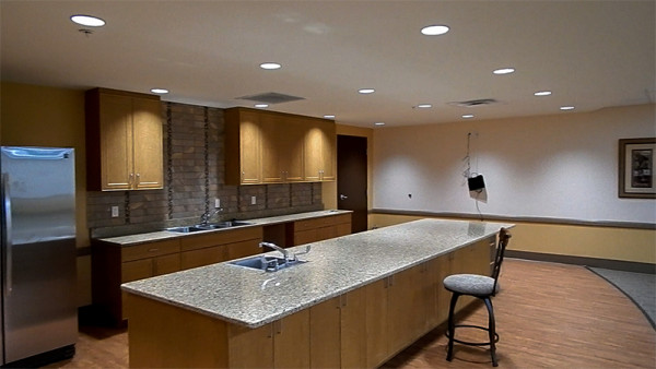 Cooking classroom on 2nd floor in 2020 Center fitness spa building in Kings Point