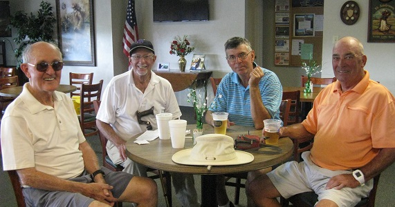 L to R:  Allan Clark, Doc Lamiano, Jim Sari, and Bill Smythe/ submitted by Hogan Golf Club of Sun City Center and Kings Point