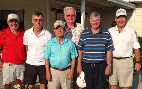 L to R: Norm Taylor, Jim Sari, Ray Bui, Harry Wright, Bob Wright, and Greg Brash/ submitted by Hogans Golf Club of Sun City Center & Kings Point