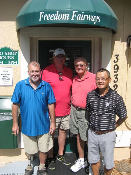 L to R: Steve Belknap, Bob Harris, Bob Hull, and Ray Bui at Freedom Fairways Sun City Center FL/submitted by Hogans Golf Club of Sun City Center & Kings Point