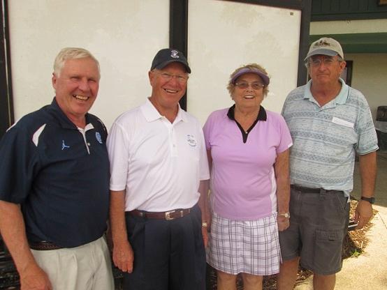 Left to Right  Walt Weldon, Denny Sutphen, Karen Jones, and Ray Webb