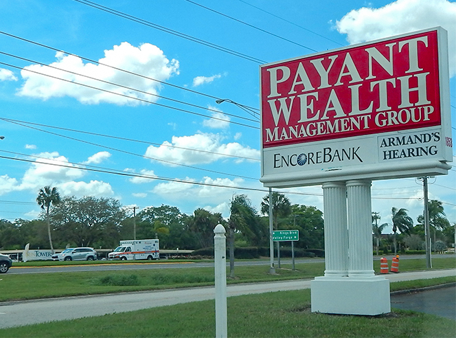 New Payant Wealth Management Group sign