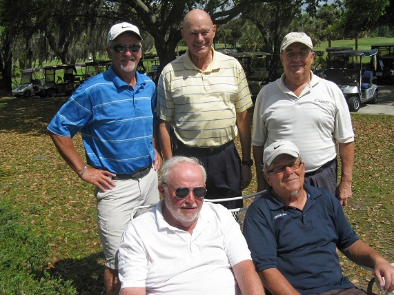 Standin L to R:  Bruce Hawkins, Doug Banning, and Vic Szymanski, Seated L to R: Rich Lucidi and Tom Rosata/ submitted by Hogans Golf Club of Sun City Center & Kings Point