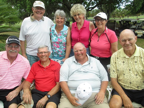 Standing L to R: Chuck Feldschau, Sue Fitts, Cluadia Swakow, and Laura Parziale, Seated L to R: Paul Swakow, Mike Arghittu, Cliff Bates, and Doug Banning/submitted by Hogans Golf Club of Sun City Center & Kings Point