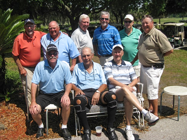 Standing L to R  Doc Lamiano, Cliff Bates, Walt Weldon, Bruce Hawkins, Frank O'Brien, and Chris Heim, Seated L to R  Paul Swakow, John Schachte, and Reggie Ryan