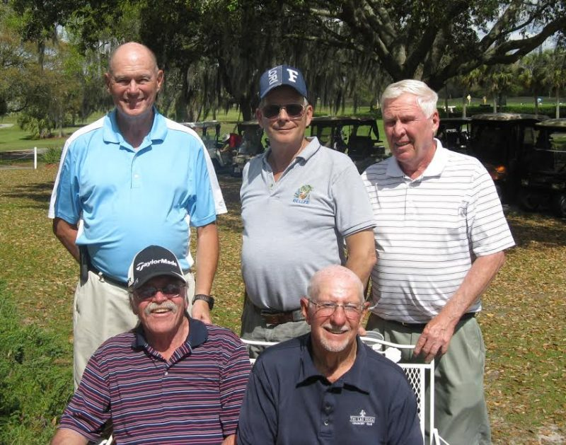 Standing L to R: Doug Banning, Bill Barron, and Walt Weldon, Seated L to R: Paul Swakow and Doc Lamiano/submitted by Hogans Golf Club of Sun City Center & Kings Point