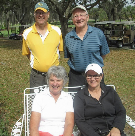 Standing L to R: John Colgren and Travis Lansberry, Seated L to R: Sue Fitts and Laura Parziale / submitted by Hogans Golf Club Sun City Center and Kings Point