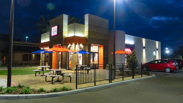 Dunkin Donuts with lights on Cypress Blvd, Sun City Center Ruskin, FL
