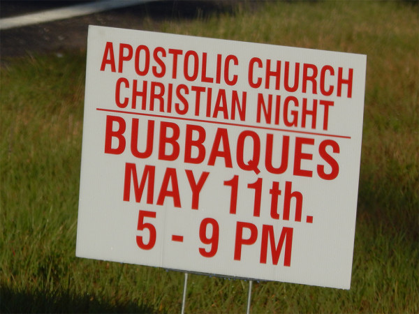 MAY 13, 2015 - APOLSTOLIC CHURCH CHRISTIAN NIGHT at Bubbaques May 11 5-9pm, Sun City Center