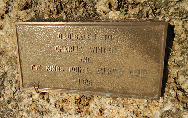 MAY 25, 2015 - Rock dedicated to Charlie Winters and Kings Point Walking Club, Kings Point Suncoast