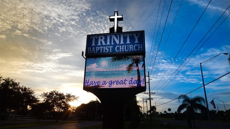 July 6, 2015 - Trinity Churh Babtist Church sign Have A Great Day in Sun City Center SouthShore, FL