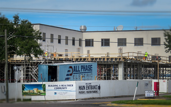 Dec 9, 2015 - South Bay Hospital Med Tower under construction in Sun City Center FL