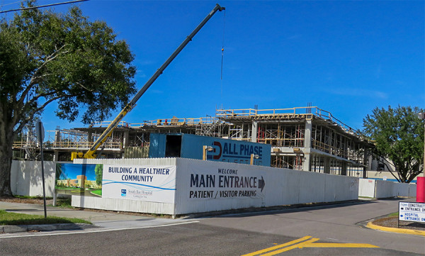 Jan 12, 2016 - South Bay Hospital construction update of Patient Tower in Sun City Center, FL