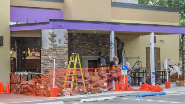 April 22, 2016 - Taco Bell Patio construction, Sun City Center, FL/photonews247.com