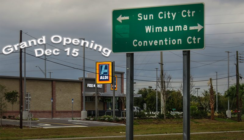 12.11.2016 - Aldi Grand Opening Dec 14, Wimauma, Sun City Center SouthShore FL/suncitycenterphotos.com