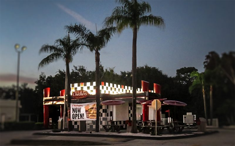 Checkers Hamburger restaurant opens Dec 2015, Sun City Center Blvd, Ruskin, FL