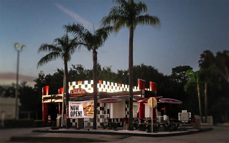 Checkers Hamburger restaurant opens Dec 2015, Sun City Center Blvd, Ruskin, FL