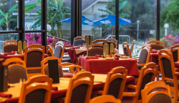 Dec 29, 2016 - Sandpiper Grille event dining area with outdoor pool, Sun City Center, FL/suncitycenterphotos.com